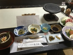 Japanese cuisines in small dishes