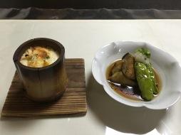 Gratin and eggplant stew